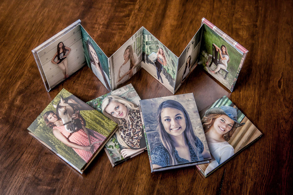 Accordion Wallet Books - High School Senior Photography Product Showcase - Albums, Prints, Books, CArds,Wall Art - Tampa St Petersburg, Clearwater, Sarasota, Florida - Brian K Crain Photography