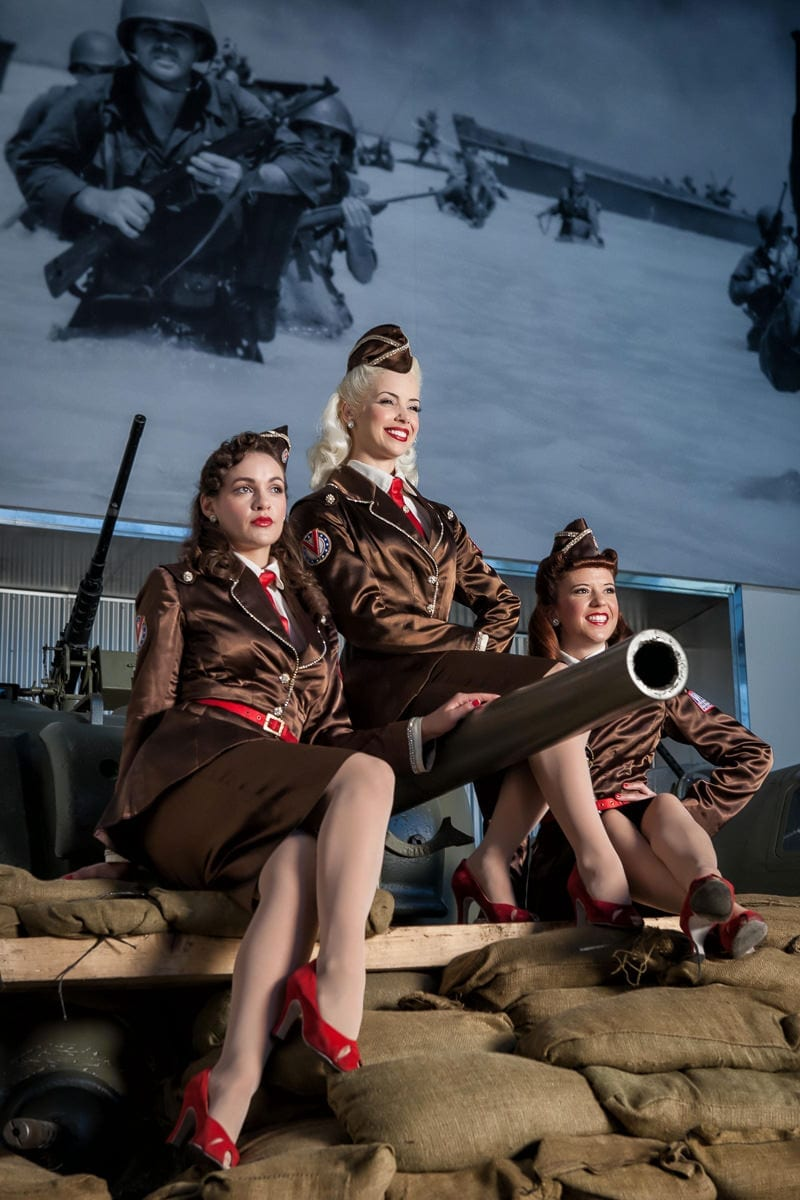 Commercial Photography - Promotions & Events - WWII Museum - Victory Belles - Palm Island Creative