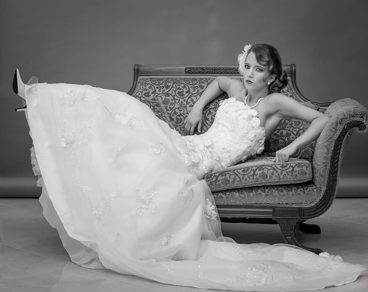 Couture Bridal Fashion Photography - Website Design & Branding for Wedding Industry - Palm Island Creative